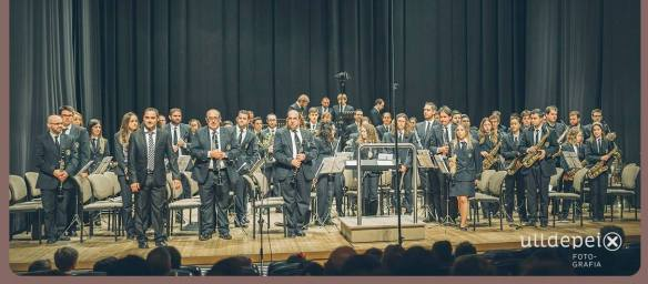 Sociedad Ateneu Musical de Cocentaina con su nuevo director titular David Payá Gea
